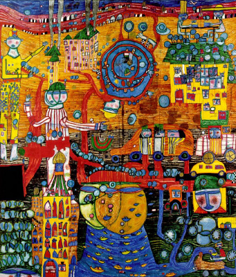 Friedensreich Hundertwasser. 30 days of drawing on faxes