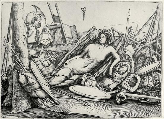 Якопо де Барбари. Богиня победы среди трофеев