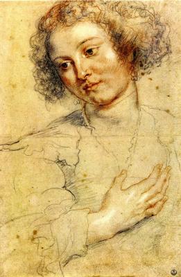 Питер Пауль Рубенс. Голова и правая рука женщины