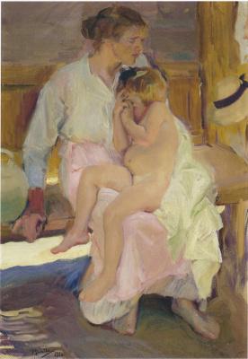 Хоакин Соролья (Соройя). Мать и дочь, пляж Валенсии