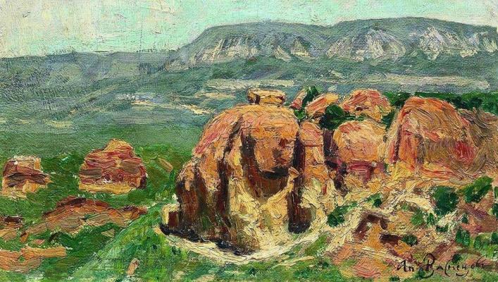 Apollinarius Mikhailovich Vasnetsov. Red rocks in Kislovodsk