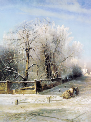 Winter landscape. Moscow