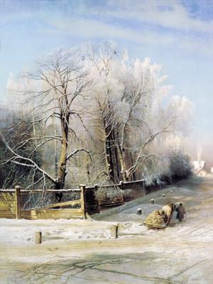 Alexey The Kondratyevich Savrasov. Winter landscape. Moscow