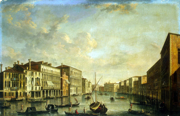 Francesco Tironi. View of the Grand canal