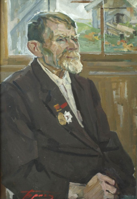 Евгений Иванович Бригадиров. Портрет Баранова М.Я., 1-го председателя колхоза