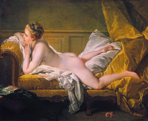Francois Boucher. Resting girl (Blonde odalisque)