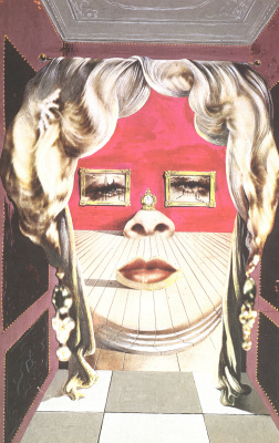 Salvador Dali. The face of Mae West, a surreal room