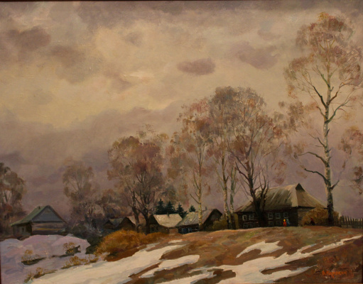 Victor Tikhonovich Karjakin. Spring at the academic dacha