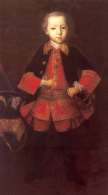 Иван Яковлевич Вишняков. Портрет князя Фёдора Николаевича Голицына в детстве