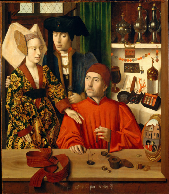 Petrus Christus. A Goldsmith in his Shop (Saint Eligius)