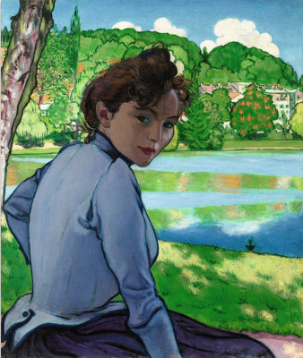Woman by the water. 1889