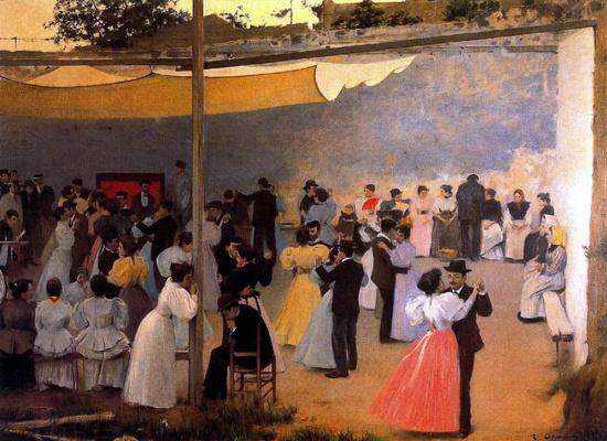 Ramon Casas i Carbó. Evening dance