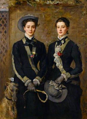 John Everett Millais. Twins grace and Kate Hoare