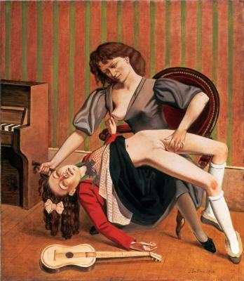Balthus (Balthasar Klossovsky de Rola). Music lesson