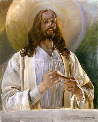Jacek Malchevsky. Christ at Emmaus