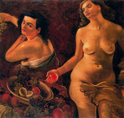 Andre Derain. Two naked women and still life