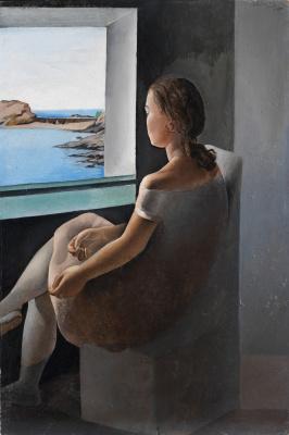 Salvador Dali. Figure in profile (Portrait of sister Ana Maria)