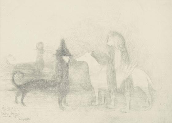 Leonora Carrington. Foggy dogs gods dogs and there are dogs in the fog
