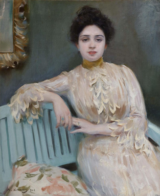 Ramon Casas i Carbó. Portrait of a Mercedes Llorac