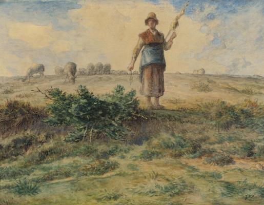 Жан-Франсуа Милле. Пастушка и ее стадо