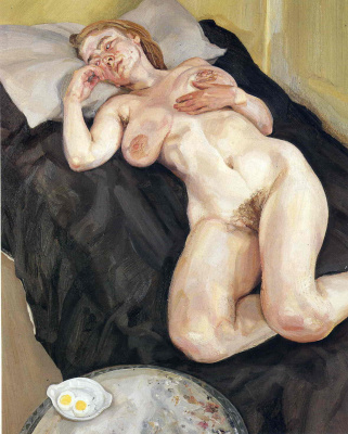 Lucien Freud. Sound sleep of a nude woman