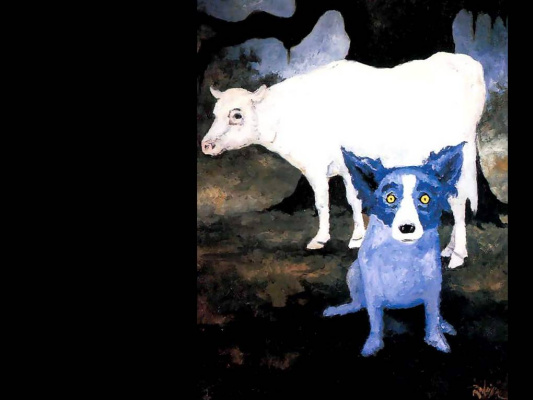 George Rodrigue. Blue собака012