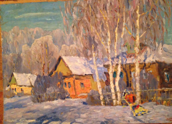 "Dmitry Alekseevich Trubnikov. ""Fantasy on the theme of the March in the village and a phantom horse with a sledge"""