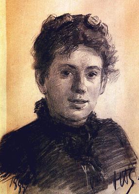 Nikolai Nikolaevich Ge. Portrait Of Tatyana Lvovna Tolstaya