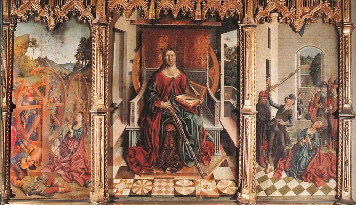 Фернандо Гальего. Триптих Святой Екатерины