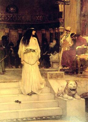 John William Waterhouse. Miriam leaves the court of Herod