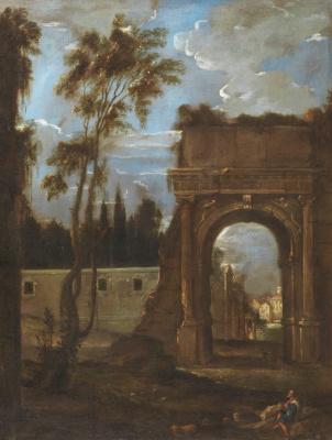 Juan Batista Martinez del Maso. Arch of Titus in Rome