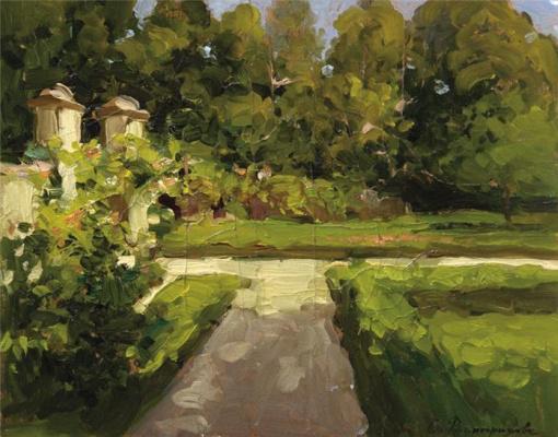 Sergey Arsenievich Vinogradov. In manor Park