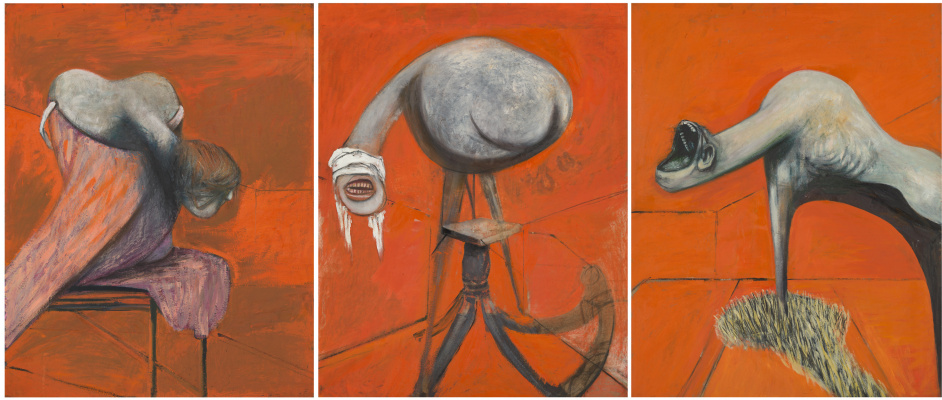 Francis Bacon. Three studies for figures at the base of the crucifixion