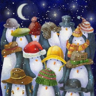 Джен Пэшли. Пингвиньи шляпы и шапки