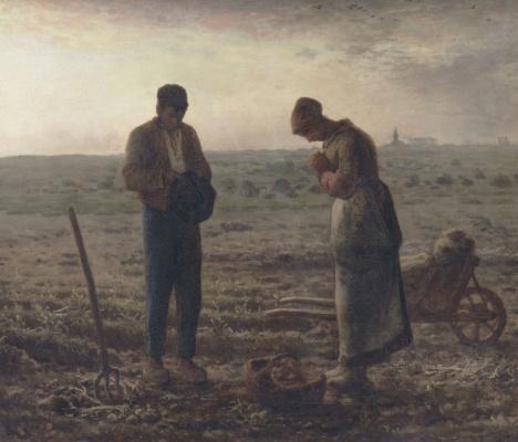 Jean-François Millet. The Angelus (Evening prayer)
