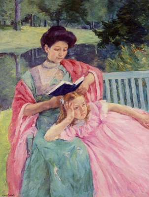 Mary Cassatt. August reading to her daughter
