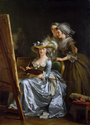 Self-portrait with two pupils, Marie Gabrielle Capet and Marie Marguerite Carros de Rosmond