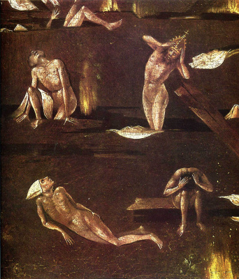 Hieronymus Bosch. Judgment. Fragment