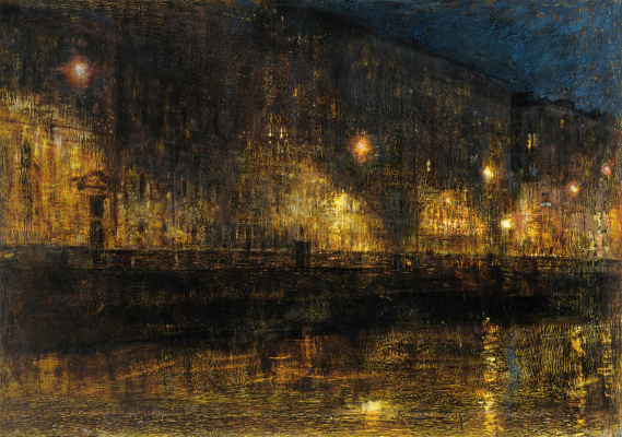 Arkady Perchevich Melik-Sargsyan. Night city, promenade