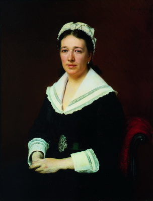 Ivan Nikolayevich Kramskoy. Portrait Of Vera Nikolaevna Tretyakova