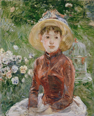 Berthe Morisot. The girl on the grass. Mademoiselle Isabelle Lambert
