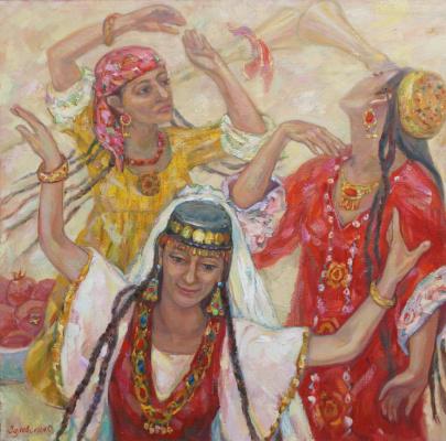 Oksana Viktorovna Zalevskaya. Three dancers