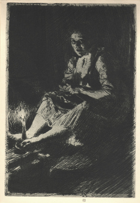Anders Zorn. The darkness
