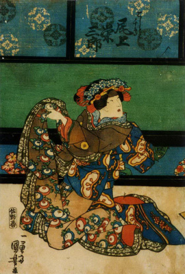Utagawa Kuniyoshi. Signified of Eizaburo in the role of Quasimoto Chidori