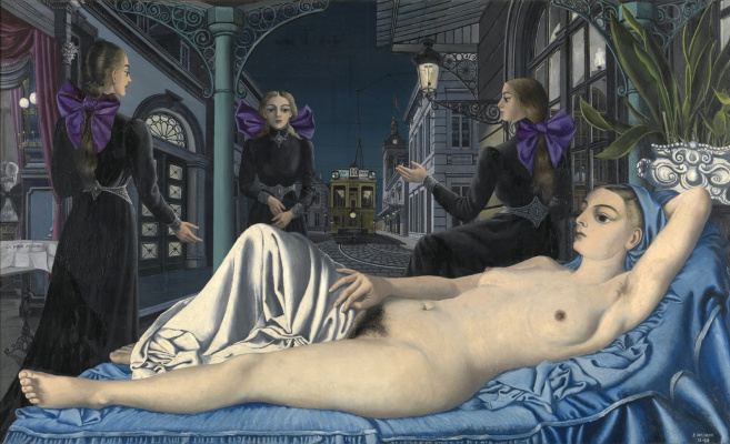 Paul Delvaux Belgium 1897-1994. The voice of the people. 1948