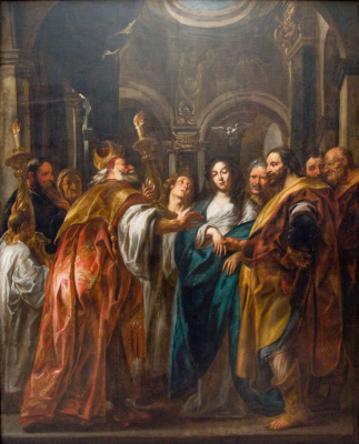 Jacob Jordaens. The wedding of the Virgin