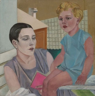 Александра Митрофановна Бельцова. Автопортрет с дочерью