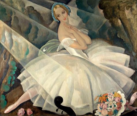 "Gerda Wegener. Ballerina Ulla Poulsen in the ballet ""Chopiniana"""
