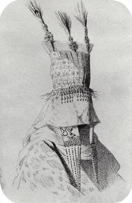 Василий Васильевич Верещагин. Наряд киргизки-невесты с головным убором