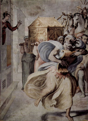 Francesco Salviati. David dancing before the sacred ark